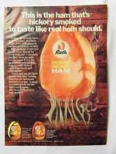 1970 Magazine Advertisement Page For Rath Hickory Smoked Canned Ham Vintage Ad