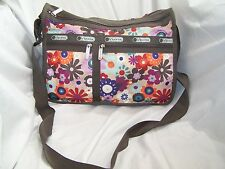 Le Sportsac Every Day Floral Multi-Color Shoulder Bag Cross Body Purse Messenger