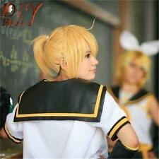 New Cosplay Anime Vocaloid Kagamine Magnet Rin Len Wavy Blonde Wig Short Hair