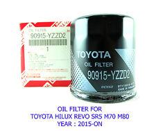 GENUINE OIL FILTER # 90915-YZZD2 FIT TOYOTA HILUX REVO 4X4 SR5 M70 M80 2015-ON