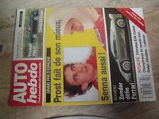 $$t Revue Auto Hebdo N°696 Prost  Senna  Zender  Citrien AX  Triumph TR5 Pi