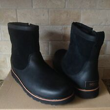 UGG HENDREN TL BLACK WATERPROOF LEATHER SHEEPSKIN BOOTS US 12 MENS 1008140