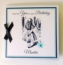 Personalised Alice In Wonderland Birthday Card Mum Sister Daughter 18th 21st 30t