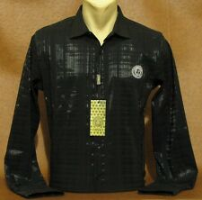 Brand NEW Men's VERSACE Long Sleeve Slim Fit Black SHIRT Size L