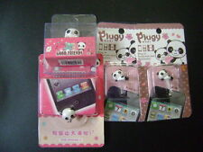 New 1 Set of 4 Cute Panda Dust Proof phone plug Cover Charm (3.5mm)
