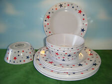 PATRIOTIC MELAMINE 4 PLACE SETTING DISHES *NEW*