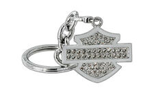 Harley-Davidson Key Chain With Removable Clasp Imbedded With Swarovski Elements
