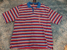 ENYCE Red White Blue short sleeve polo shirt Mens Short sleeve polo shirt 4X NWT