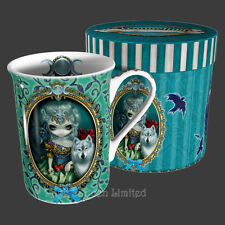 LOUP GAROU Strangeling Wolf Art Fine Bone China Mug By Jasmine Becket-Griffith