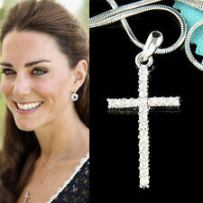 w Swarovski Crystal CROSS God Lord Jesus Christ Charm Religious Necklace Jewelry