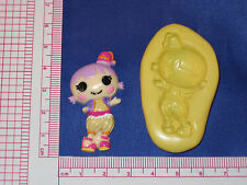 LalaLoopsy Silicone Push Mold Resin Clay Candy Bookscraping A482