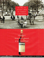 PUBLICITE ADVERTISING  046  1999  Campari  apéritif  café del Opera Barcelone