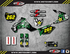 Full  Custom Graphic  Kit - GRAFFITI - KAWASAKI KLX 140 - 2008 / 2014 decals