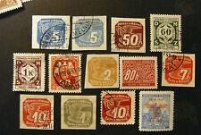 GERMANIA ,GERMANY REICH 1939-42 Occ.Bohmen & Moravia lotto di 13 Valori MH/USED