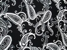 3 yards  stretch spandex lycra fabric paisley print
