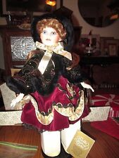 "Franklin Heirloom ""Emily Jane"" Winter Princess Doll with Skates"