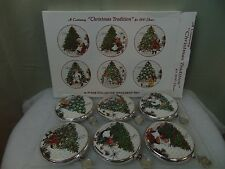 J. Wecker Frisch 6 Pc Collector Ornament Set History of the Christmas Tree #C198