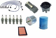 Maxima 280ZX 810 Tune-up kit NGK Spark Plugs-Wire Set-Cap-Rotor-Air+Oil Filters