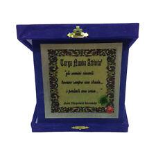 NUOVA ATTIVITA' targa con scritta jHON FIZTGERALD KENNEDY 14x14 cm made in italy