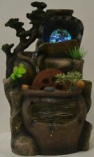 Indoor Tabletop Electric Water Fountain CrystalBall/Waterwheel 4Color LED Lights