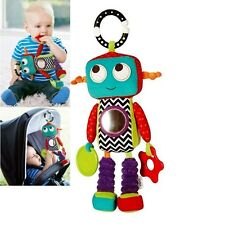 Baby Child Kid Soft Stuffed Plush Chime Rattle Multi-Color Robot Toy Doll 0+