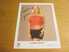 Lauren Jones Autographed/Signed 8X10 Photograph Wrestling WWE