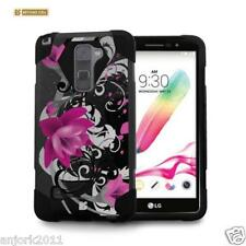 Lotus Shockproof Case w/Stand Cover for LG Stylo 2 LS775 Stylus 2 E520