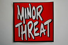 "Minor Threat Sticker Decal Car Window Punk Rock Music Adicts Ipad 4""X4"" (80)"