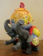 Ceramic Circus Twin Elephant Trinket Box by DaNisha, Ltd. Ed.-FREE SHIPPING