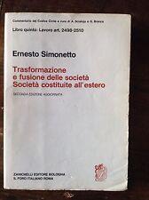 SIMONETTO S. COSTITUITE ESTERO ART 2498-2510 LIBRO V COMMENTARIO COD.CIVILE 1976
