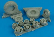Aires 132004 1/32 F14A Tomcat Weighted Wheels for Tamiya