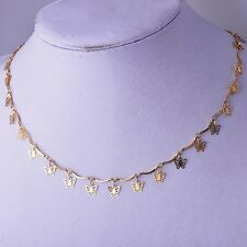 """Cute 18K Yellow Gold Filled Womens Butterfly Charms chain Necklace 18.9"""""""