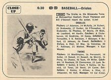 1968 TV BASEBALL AD~BALTIMORE ORIOLES BROOKS ROBINSON HOMERS in 4-3 WIN~