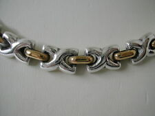 """VINTAGE TAXCO STERLING SILVER X NECKLACE 18"""" HEAVY"""
