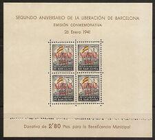Ayuntamiento Barcelona   Edifil 31/32** LUJO  Hojitas  1941   NL1246