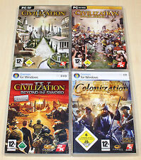 4 PC SPIELE SAMMLUNG CIVILIZATION IV 4 COLONIZATION BEYOND THE SWORD WARLORDS