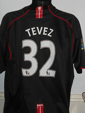 Manchester united away football shirt (2007/2008 tevez 32) xxl homme #32