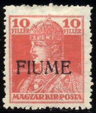 FIUME - 1918/19 - 10 f. rosso - Sassone n.24/II - nuovo - MH
