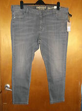 "M&S Indigo Cotton Rich Denim Skinny Jeans 20S W38.5"" L29"" Grey BNWT"