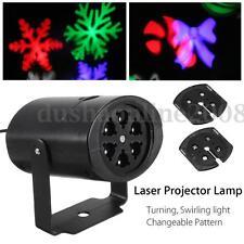 Etanche LED Projecteur Laser Lumière Éclairage Lampe Flocon de Neige Noël Décor