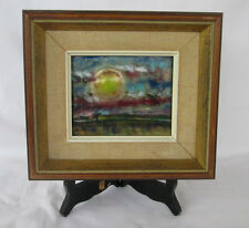 Original Enamelist Pat Peat O'Neil Sunrise Landscape on Copper, Beautiful!