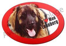 """Magnet chien """"J'aime mon Leonberg"""" frigo/voiture idée cadeau NEUF"""