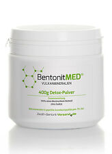 Bentonit MED®  Detox-Pulver 400g für 40 Tage, Natur Montmorillonit Bentonit