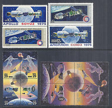1992 & 1975 US Russia Joint Space Issue Lot, 1569-70 4339-40 2631-4a 6080-83a*