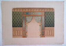 ANCIENNE CHROMO 1880 / MODELES DE TENTURES / BAIE GENRE RENAISSANCE / PL3