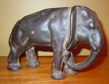 Antique Art Deco Cast Iron Elephant Doorstop Circus Animal