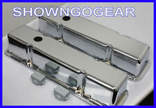 CHROME SMOOTH ALUMINIUM ROCKER COVERS SBC CHEV DRAG HOTROD AWESOME CHEVY BURNOUT