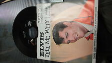 ELVIS PRESLEY RCA VICTOR 45 RPM & PICTURE SLEEVE 47-8740 TELL ME WHY /BLUE RIVER