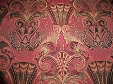 KRAVET COUTURE ART NOUVEAU DECO DAMASK FABRIC 2.5 YARDS PINK GOLD
