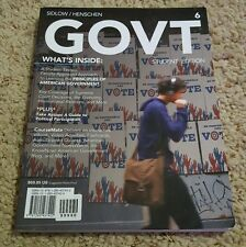 GOVT (includes CourseMate with EBook Printed Access Card) by Edward I. Sidlow...